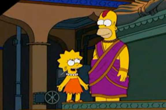 """Homer thinks he is a god in the episode of """"The Simpsons"""" set in Bangalore."""