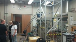 Colwell's drop tower used to test particles in his lab.