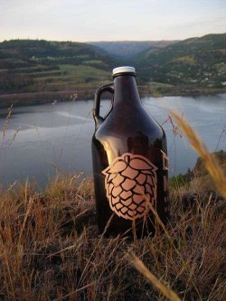 A 64-ounce glass container used to transport beer, called a growler, could soon be legal in Florida. Photo: By Sarah McD
