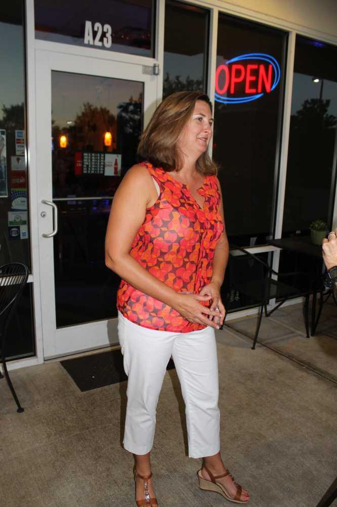 Jennifer Thompson talks to media at Lake Nona Tuesday night