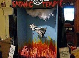 Satanic Temple Display. Photo Credit: News Service of Florida