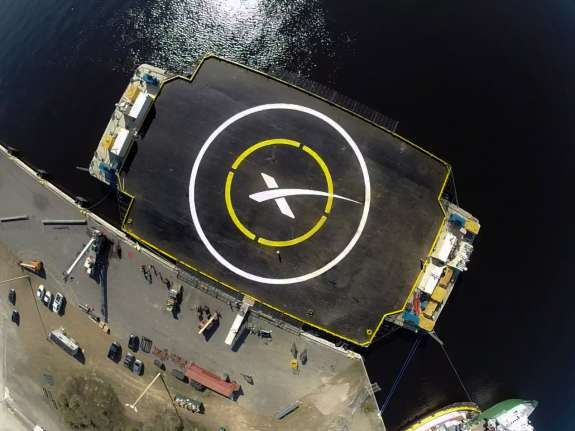 SpaceX's autonomous spaceport drone ship. Photo credit: SpaceX
