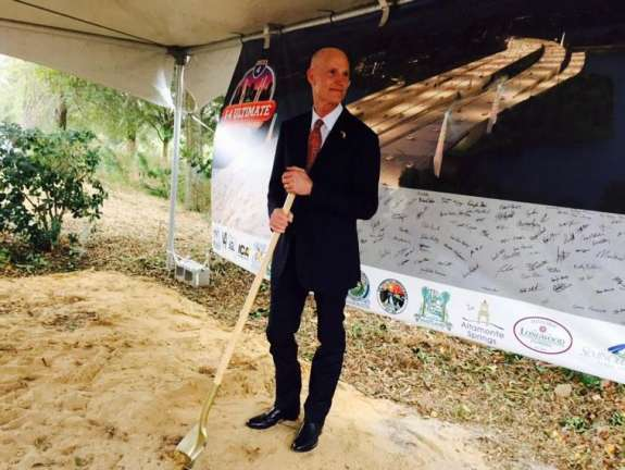 Governor Rick Scott at the groundbreaking for the I-4 Ultimate project. Photo: Catherine Welch, WMFE