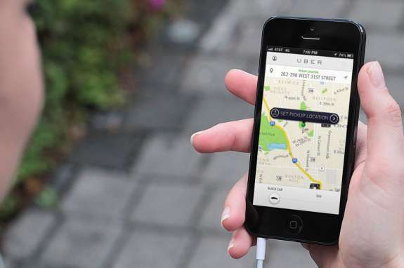 Ridesharing companies connect passenger with drivers using mobile phone apps. Photo: Uber.