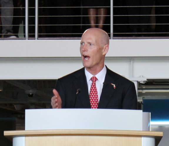 "Governor Scott denies claims that the state banned the terms ""climate change"" and ""global warming"" from official communications. Photo: Renata Sago."