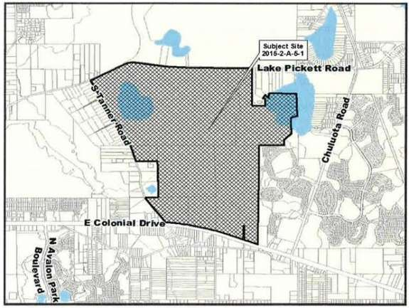 """Map of proposed """"agrihood"""" area in East Orange County"""
