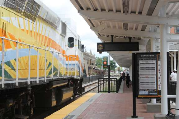 More than a million people have taken Sunrail trains between DeBary and Sand Lake Road since last May. Photo: Renata Sago.