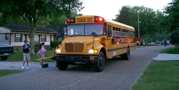 The board plans to budget for twelve new bus routes to transport kids who live within two miles of their elementary schools. Photo: Wikimedia Commons.