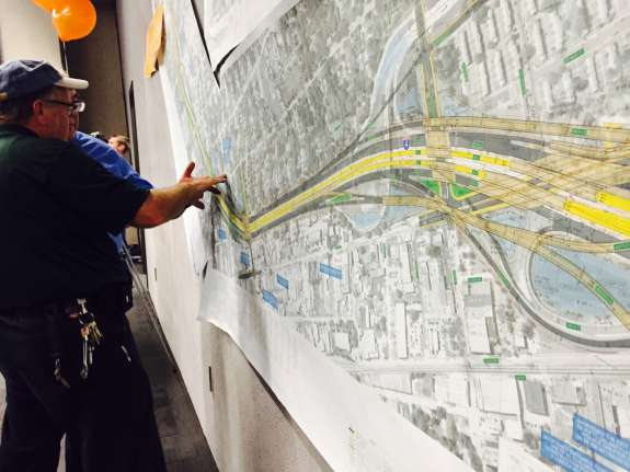 A map showing the I-4 Ultimate project. Photo: Catherine Welch, WMFE