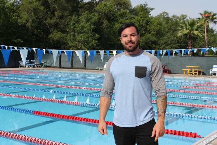 Michael Roggio at the Oviedo Aquatic Center. Photo: Matthew Peddie / WMFE