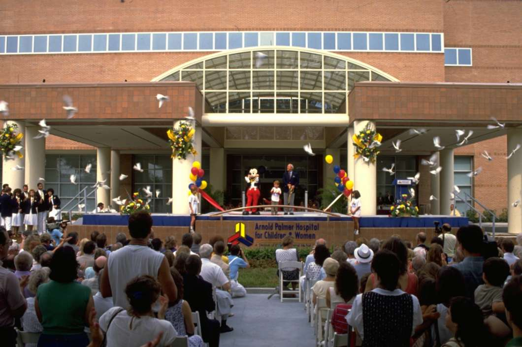 The Arnold Palmer Hospital for Children held its grand opening in 1989. Credit: Arnold Palmer Hospital Staff