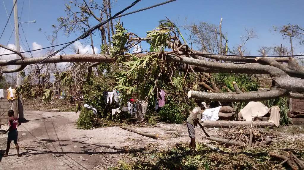 Les Cayes, Haiti, one of the towns hit hard by Hurricane Matthew. Photo: UK Department for International Development, Flickr.