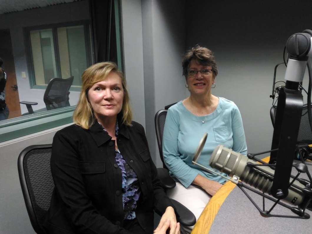 Linda Kobert & Linda Cuthbert. Photo: Matthew Peddie, WMFE