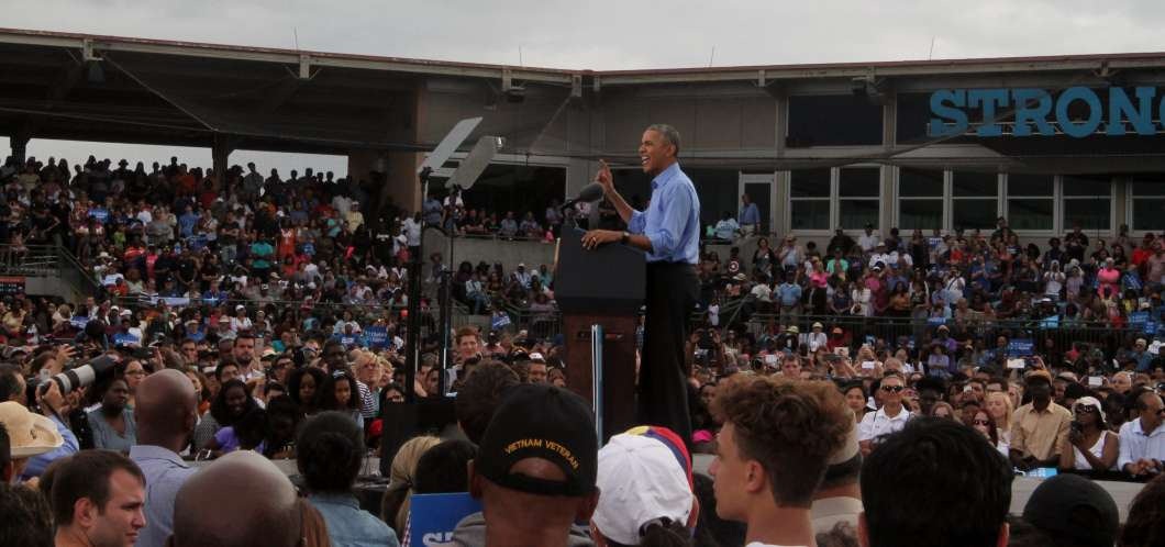 The visit to Kissimmee was President Obama's second appearance in the last ten days. Photo: Renata Sago.