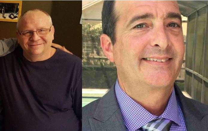 Jeffrey Roberts, 57 (left) and Kevin Clark, 53 (right) were fatally shot by their former coworker, along with three other victims. Photo: GoFundMe.