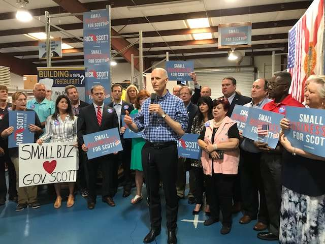 Gov. Rick Scott says he disagrees with President Trump when it comes to Russia. Photo: Danielle Prieur