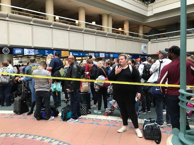 Gates 70-129 have reopened at Orlando International Airport after the death of a TSA worker this morning. Photo: Danielle Prieur