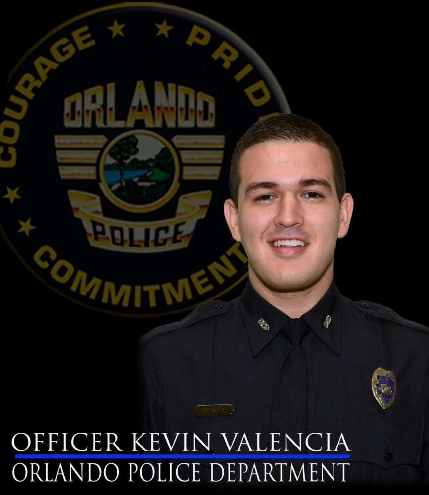 Orlando police Sgt. Eduardo Bernal says Valencia's condition remains unchanged. Photo: Orlando Police Department Twitter