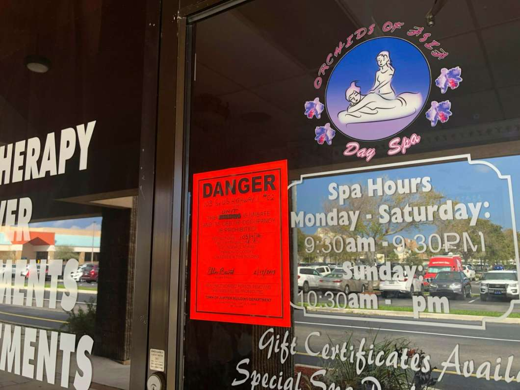 Some advocates warn closing massage parlors could make it more dangerous for sex workers. Photo: National Human Trafficking Hotline