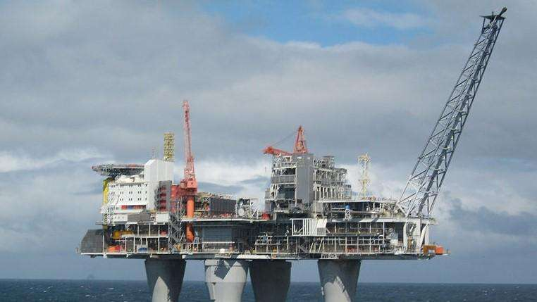 File of an offshore oil platform