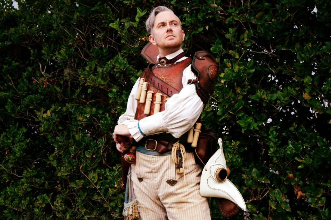 """Jamie Kruger cosplaying Percy de Rolo from """"Critical Role,"""" an animated web series where characters play Dungeons and Dragons. Kruger, a transgender man, was crossplaying before he medically transitioned, finding it a safe way to be recognized as a man: """"If things went south, I could always just say it was a costume."""" (Photo: Dorian Kelley, @afterwits on Twitter)"""