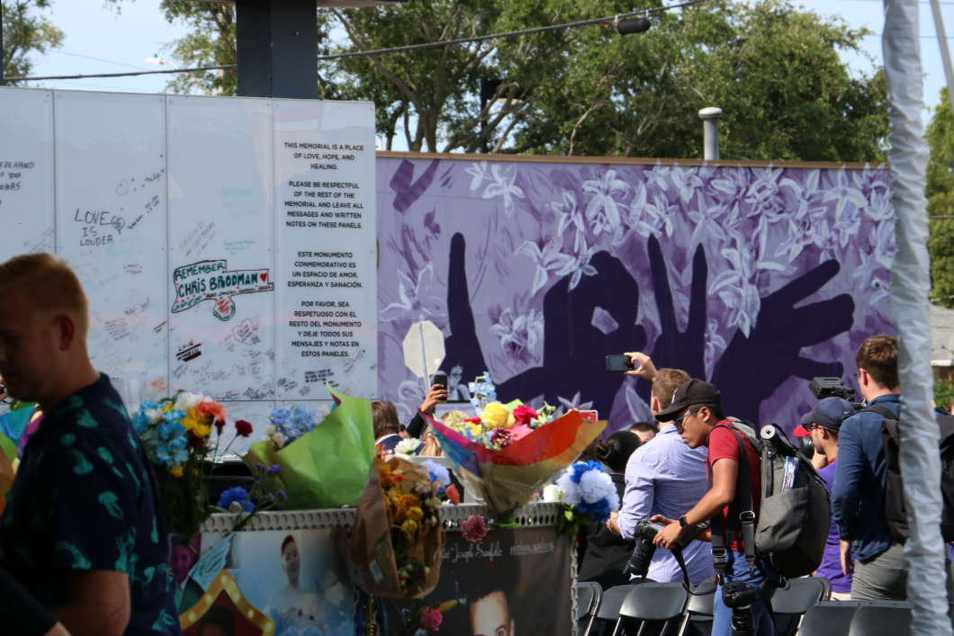 The Orlando community marked three years since the Pulse nightclub shooting. Photo: Paola Chinchilla