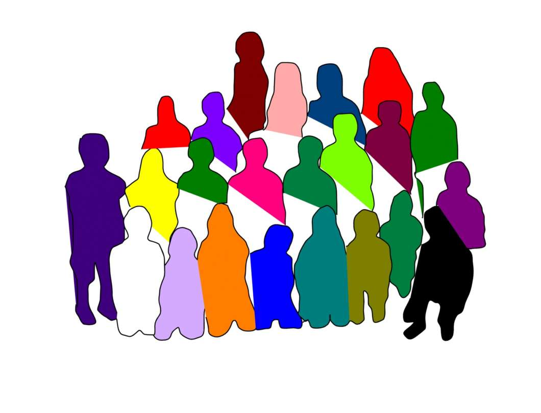 Image of diverse group of people: Pat Lyn via publicdomainpictures.net