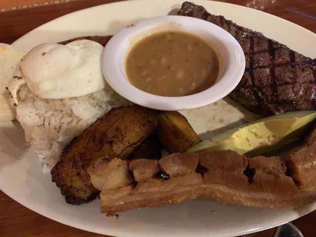 Photo of Bandeja Paisa La Fogata dish courtesy of Scott Joseph's Orlando Restaurant Guide