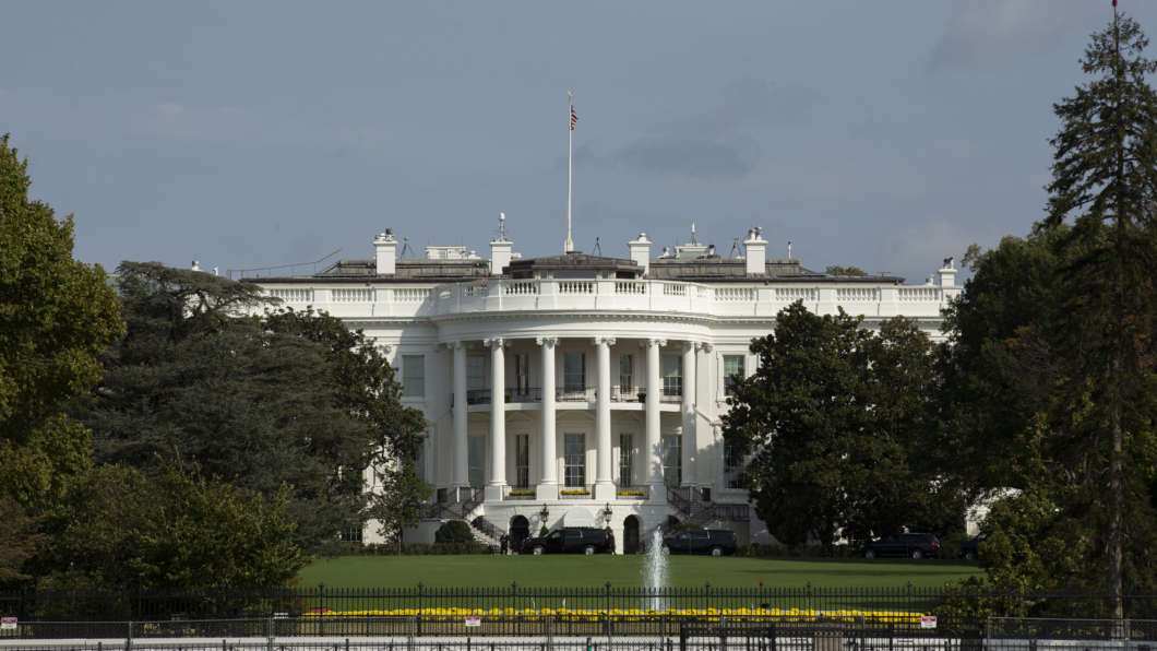 The White House stands in Washington D.C., U.S. on Monday, Oct. 7, 2019. House Democrats are moving forward with their impeachment investigation of Donald Trump, with the whistle-blower's lawyers saying they're now representing a second person with knowledge of the president's contacts with Ukraine.