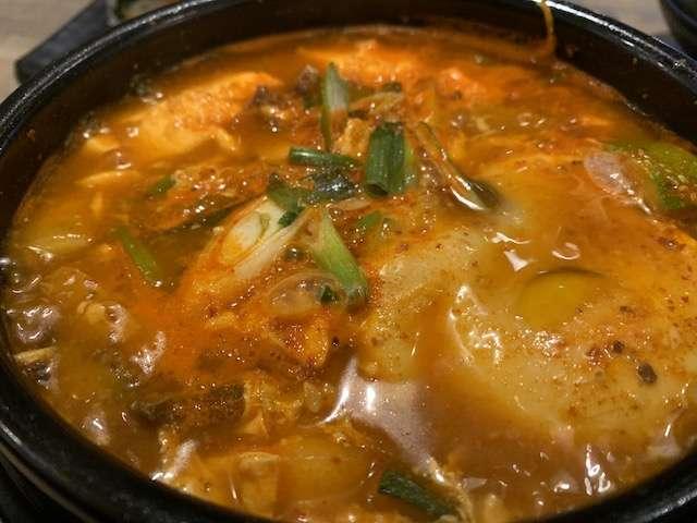 Soondubu or Korean stew at Babbi Babbi. Photo: Scott Joseph