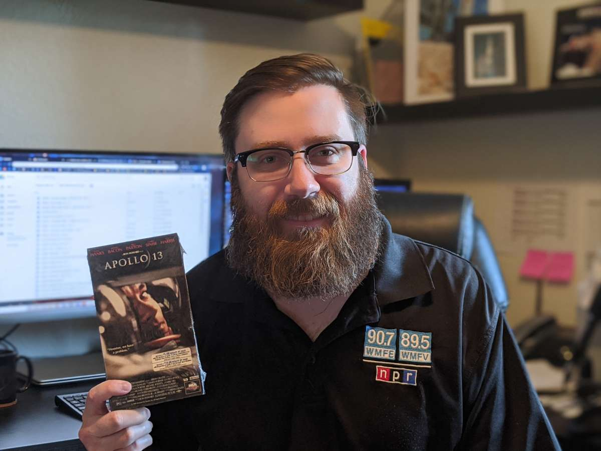 """Space reporter Brendan Byrne dug out his VHS copy of """"Apollo 13"""", one of his movie picks to help you get away from it all this weekend. Photo: Madeline Byrne"""