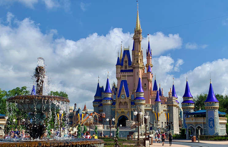 Disney World Magic Kingdom Castle on 7/9/2020