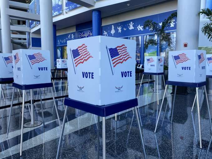 Voting Booths at the Amway Center in Orlando via Amway Center Twitter