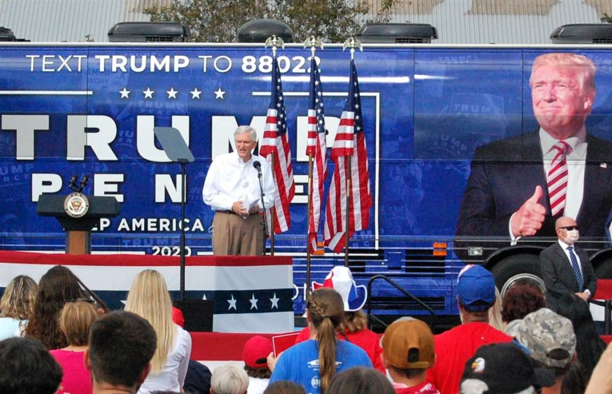U.S. Rep. Daniel Webster, shown here at an October campaign rally in The Villages featuring Vice Mike Pence, did not vote on the resolution to impeach President Donald Trump. Photo: Joe Byrnes