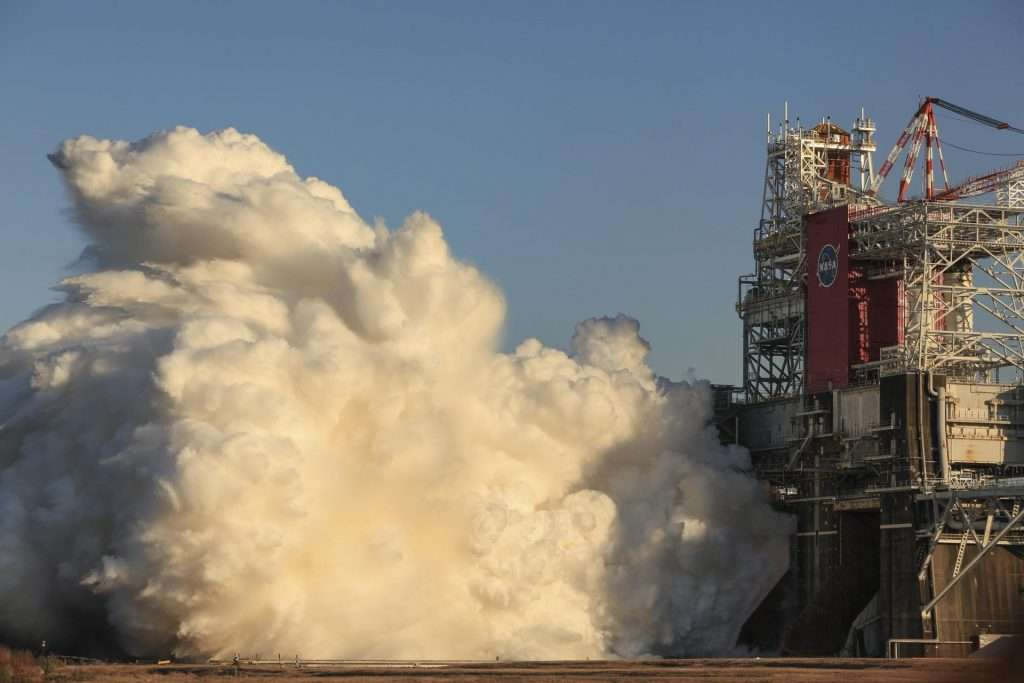 NASA Test Fires the World's Largest Rocket Core Stage