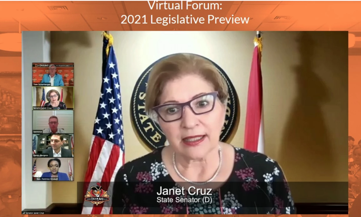 State Sen. Janet Cruz, D-Tampa, was one of four panelists. Photo: Tampa Tiger Bay Club