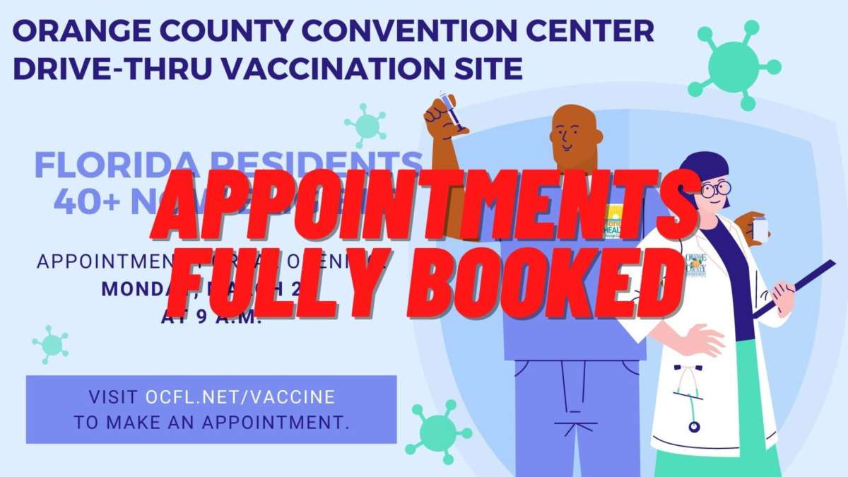 Orange County booked up all of its appointments in 13 minutes after dropping the eligibility age to 40. (Photo via Twitter)