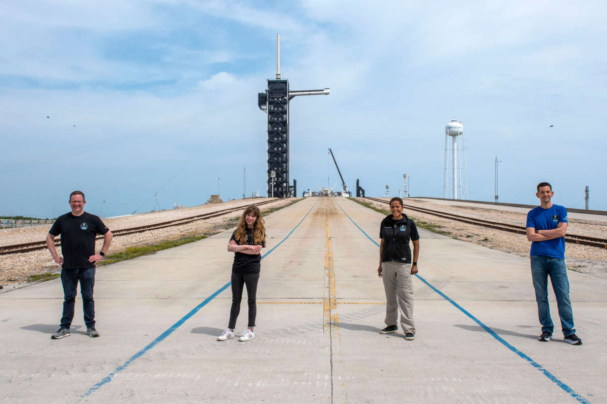 Inspiration4 Crew at historic Launchpad 39A. Photo: SpaceX