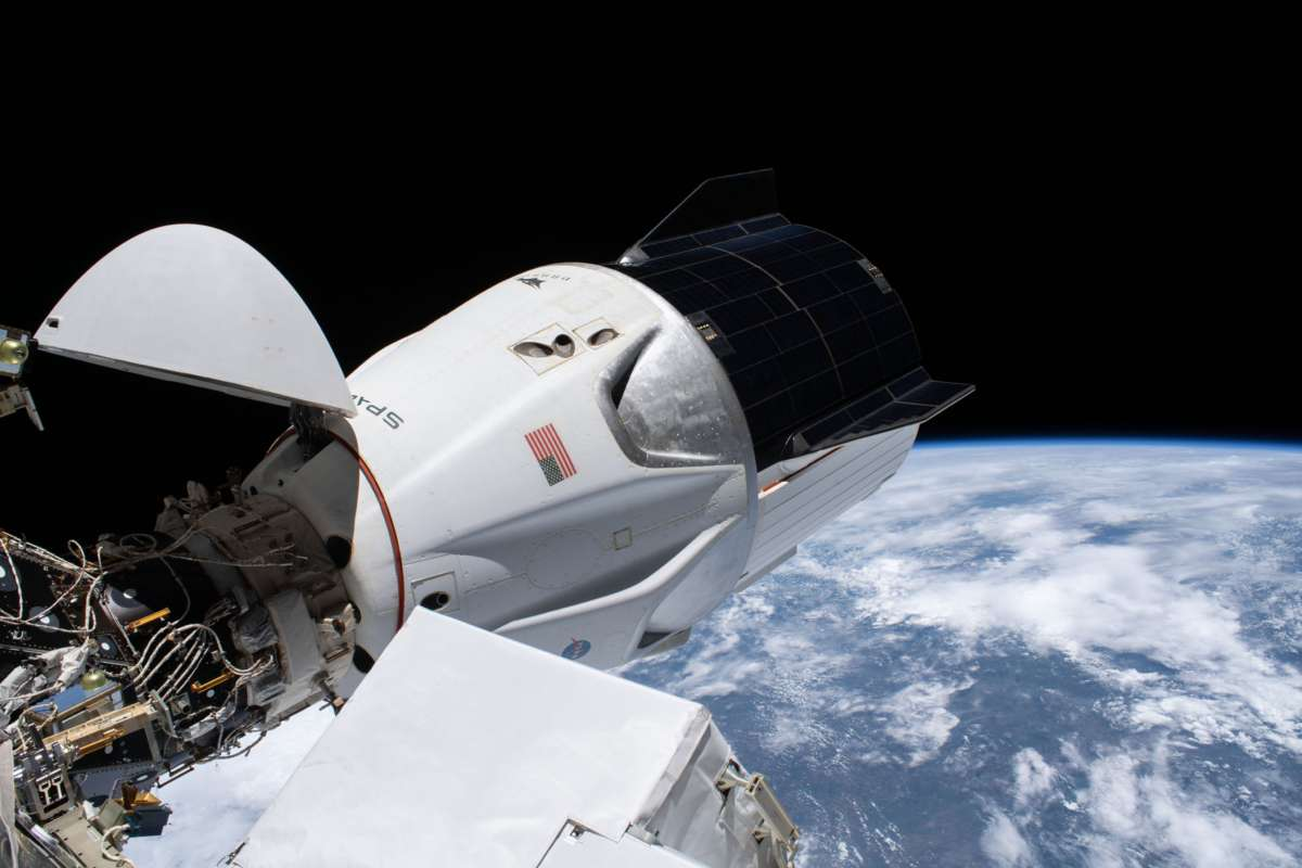 SpaceX's Crew-1 capsule docked at the International Space Station. Photo: NASA