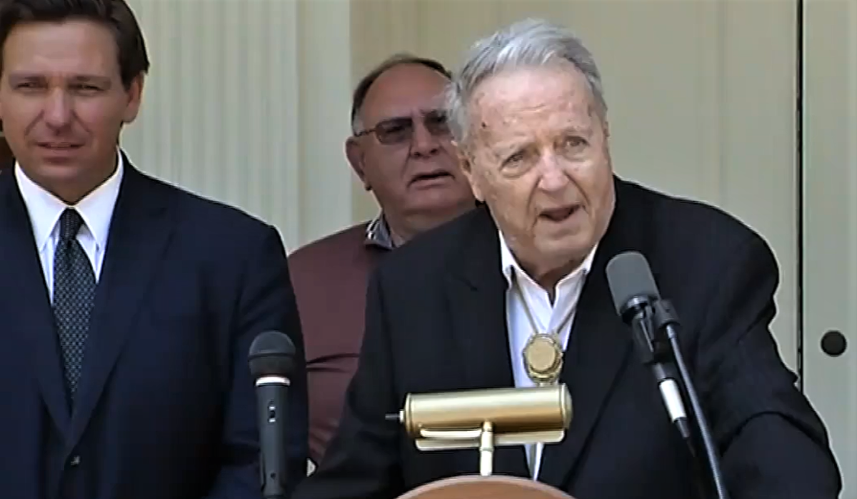 Retired FSU football coach Bobby Bowden received the first-ever Florida Medal of Freedom. Image: Florida Channel