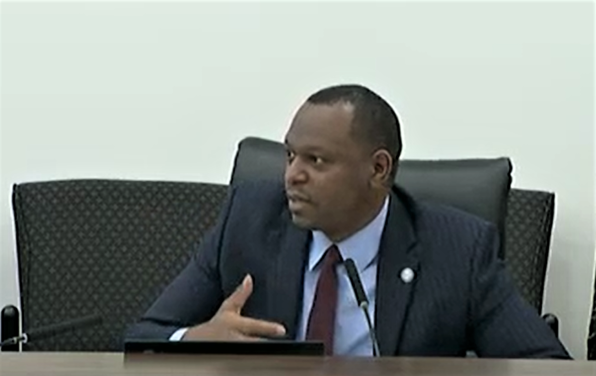 """Orlando Senator Randolph Bracy says those behind a restrictive voting bill are """"drunk on power."""" Image: The Florida Channel"""