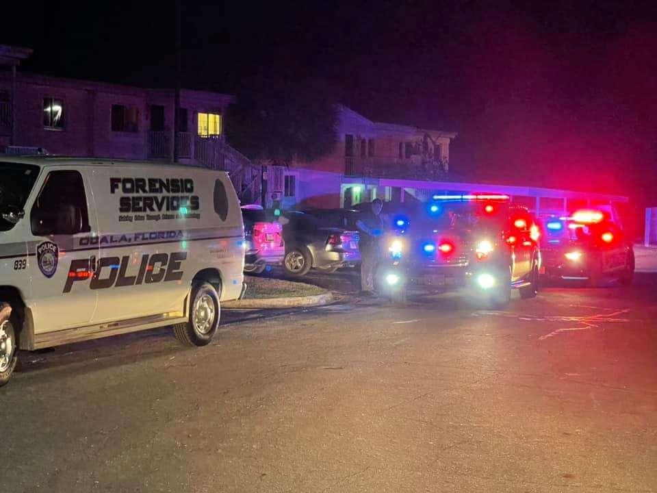 A 16-year-old boy was fatally shot at Sutton Place Apartments in Ocala Thursday night. Photo: OPD