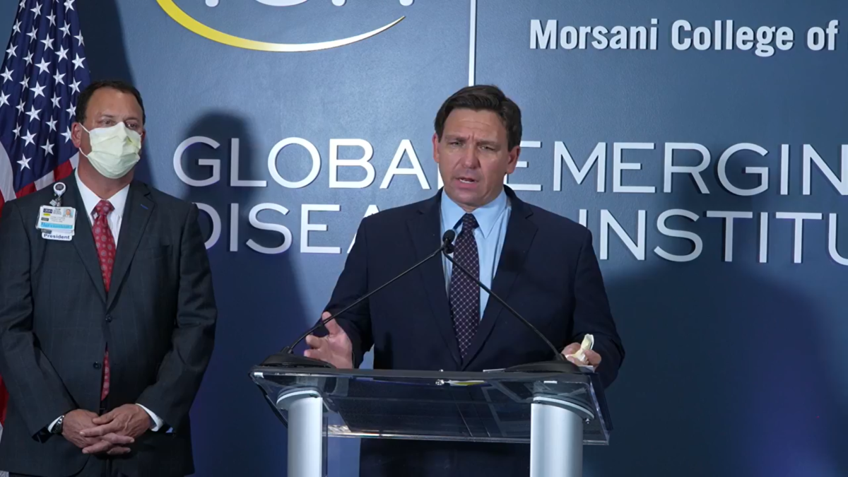 Gov. Ron DeSantis Says He's Opposed to Central Florida Hospitals Mandating the Vaccine For Staff