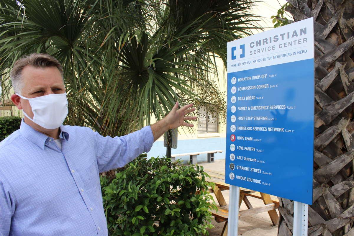 Christian Services Center executive director Eric Gray. Photo: Matthew Peddie, WMFE